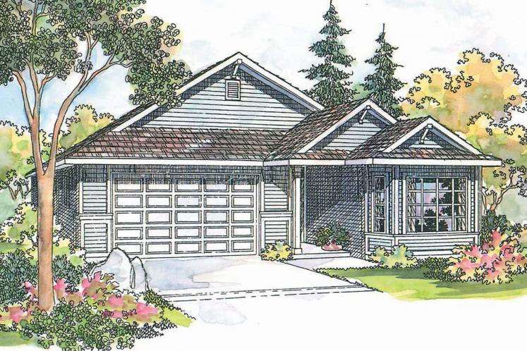 Traditional House Plan - Ashland 52008 - Front Exterior