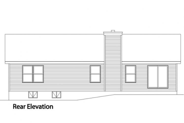 Traditional House Plan -  52270 - Rear Exterior