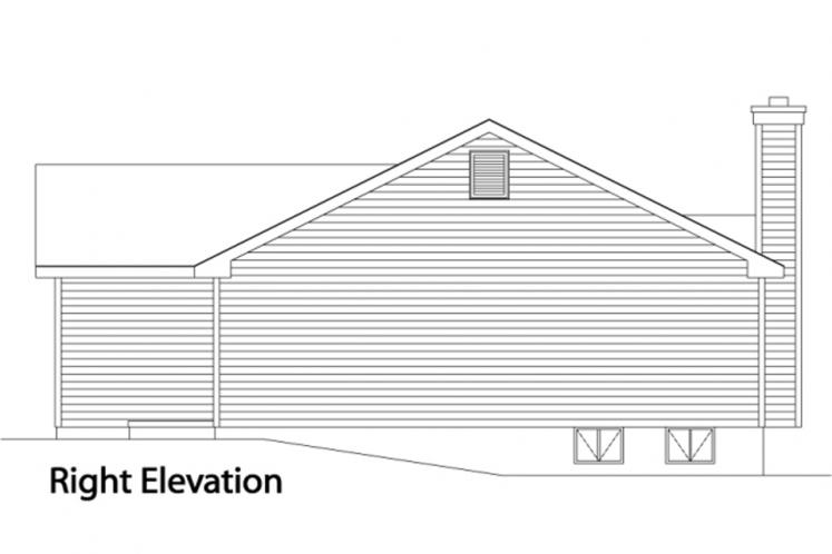 Traditional House Plan -  52270 - Right Exterior