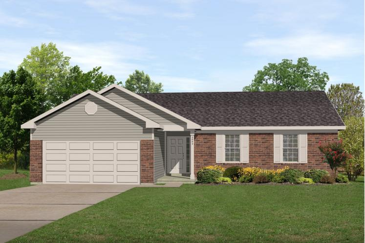 Ranch House Plan -  52270 - Front Exterior