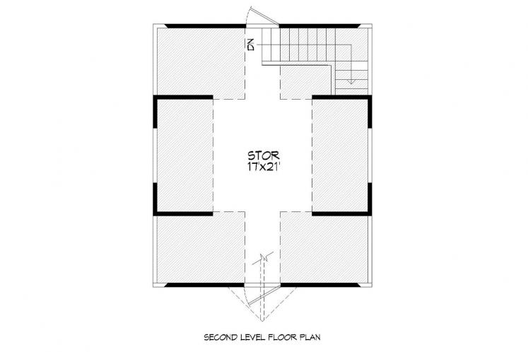 Traditional Garage Plan -  52280 - 2nd Floor Plan