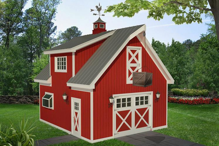 Country Garage Plan -  52280 - Front Exterior