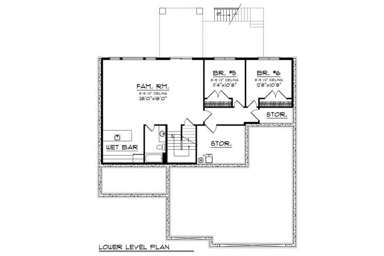 Traditional House Plan -  52308 - Other Floor Plan
