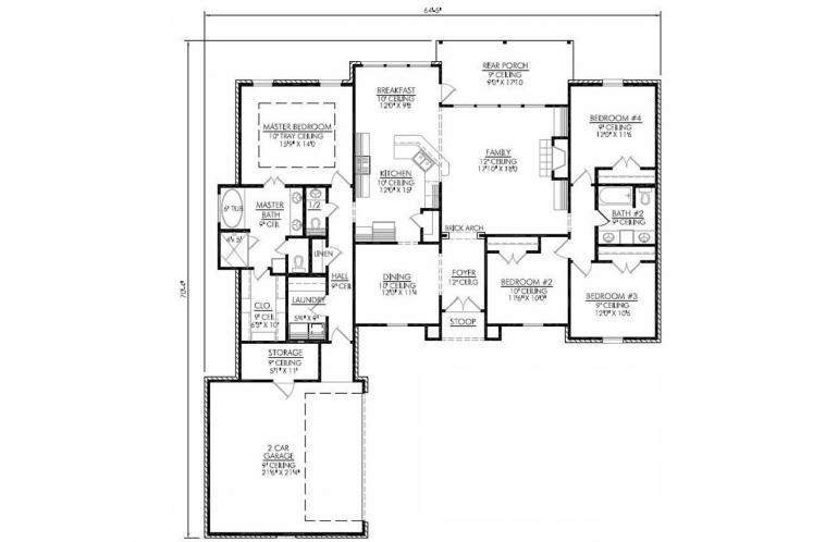 Classic House Plan - Belleville 52353 - 1st Floor Plan