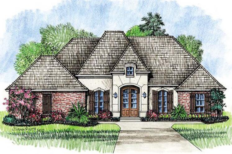 European House Plan - Belleville 52353 - Front Exterior