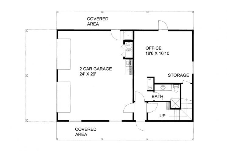 Traditional Garage Plan -  52380 - Other Floor Plan