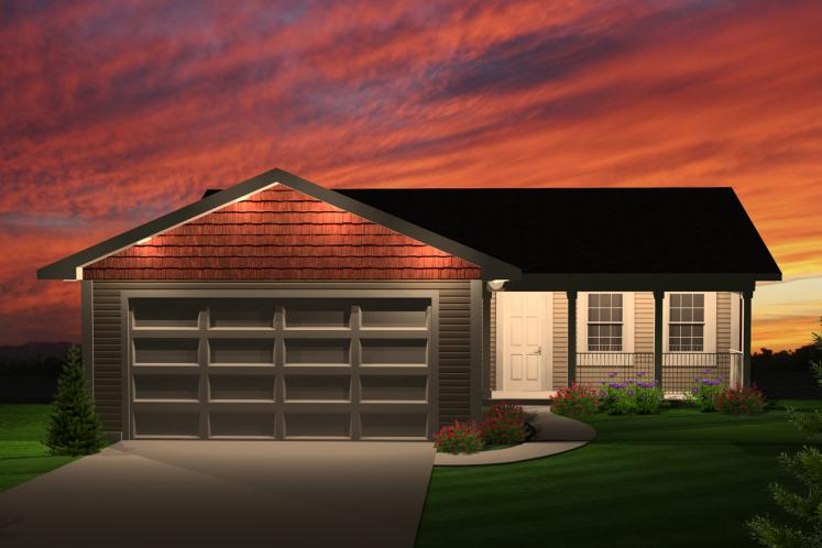 Ranch House Plan -  52674 - Front Exterior