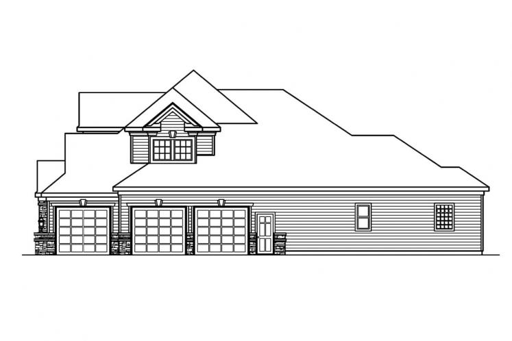 Classic House Plan - Stonehaven 52727 - Right Exterior