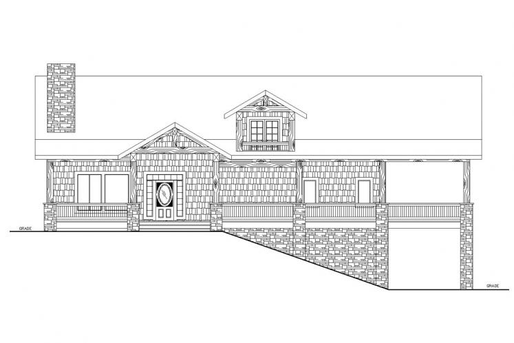 Country House Plan -  52774 - Front Exterior