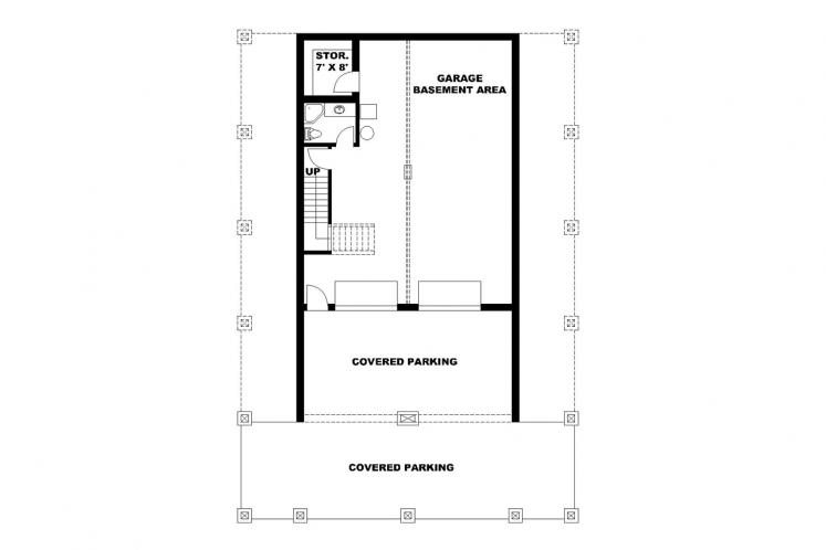 Country House Plan -  52774 - Basement Floor Plan
