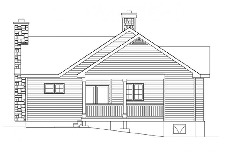 Country House Plan -  52797 - Right Exterior