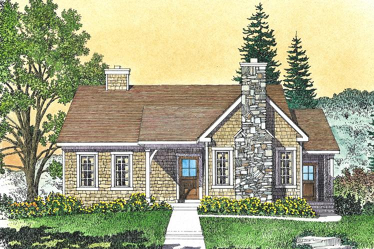 Cottage House Plan -  52797 - Front Exterior