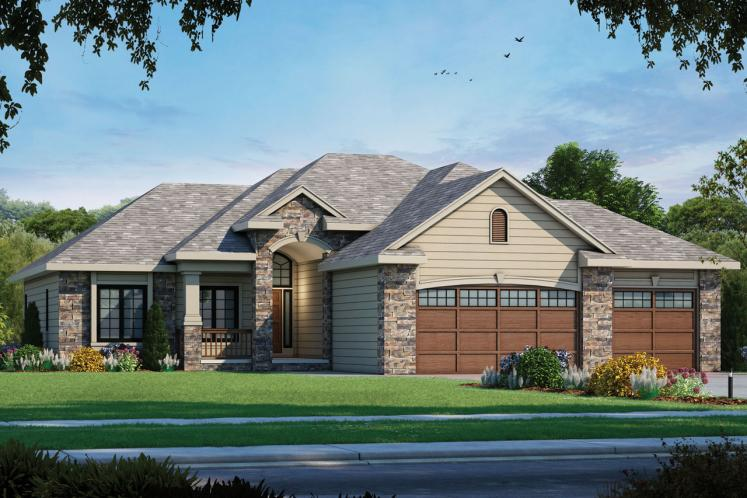 Country House Plan - Cotter 52810 - Front Exterior