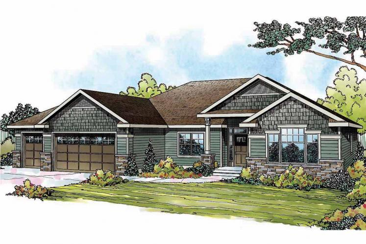 Traditional House Plan - Springwood 52828 - Front Exterior