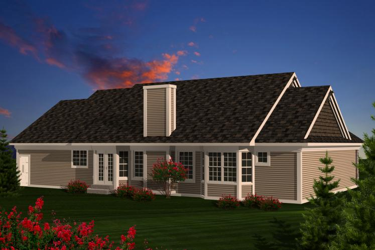 Classic House Plan -  52881 - Rear Exterior