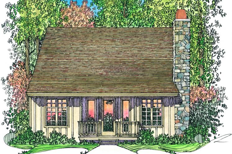 Craftsman House Plan -  52930 - Rear Exterior