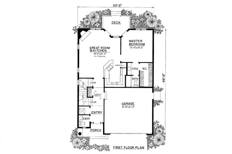 Country House Plan -  52930 - 1st Floor Plan