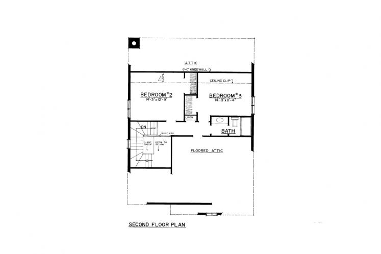 Craftsman House Plan -  52930 - 2nd Floor Plan