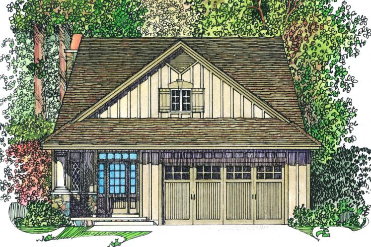 Country House Plan -  52930 - Front Exterior