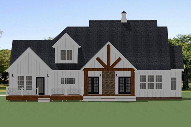 Country House Plan - Oak Grove 52946 - Rear Exterior