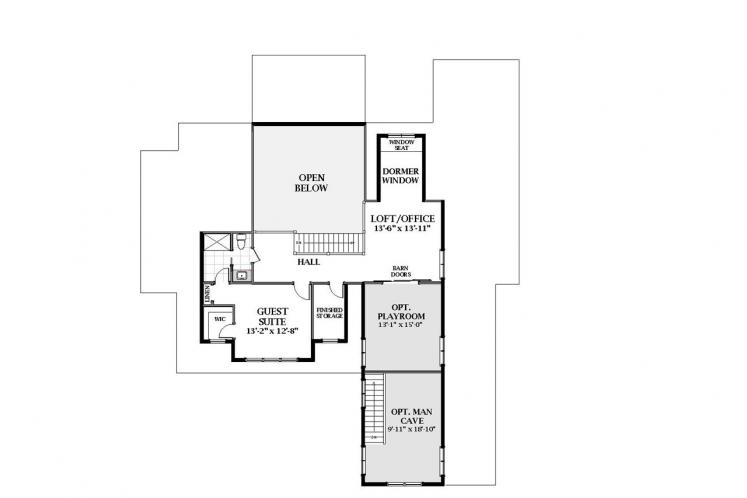 Country House Plan - Oak Grove 52946 - 2nd Floor Plan