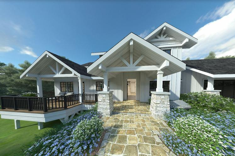 Bungalow House Plan - Stratford 53091 - Front Exterior