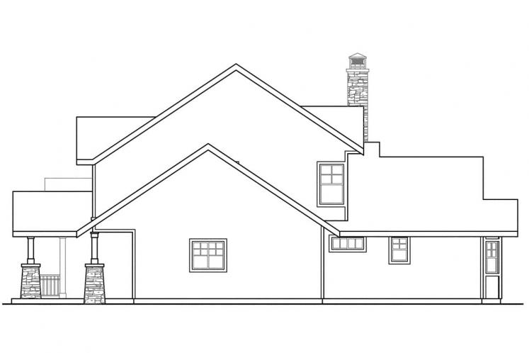 Bungalow House Plan - Stratford 53091 - Right Exterior