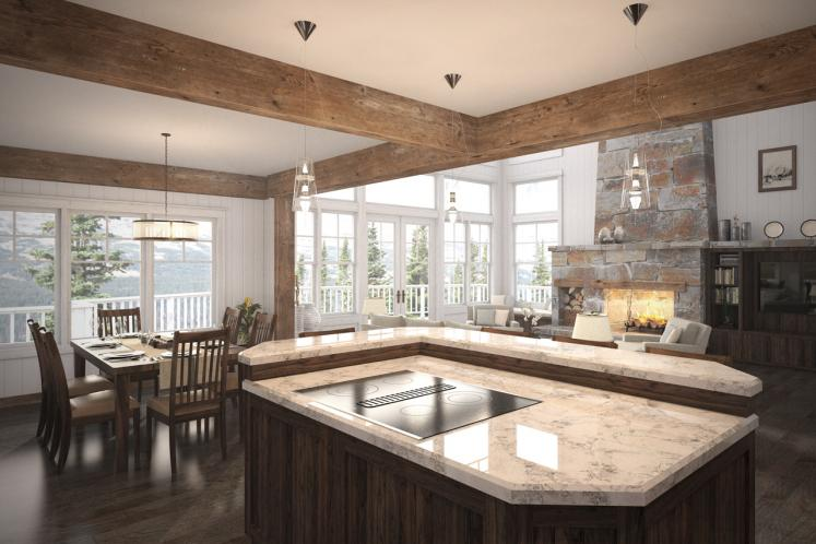 Lodge Style House Plan - Stratford 53091 - Dining Room