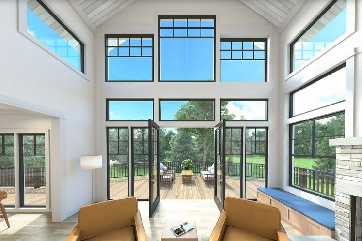 Lodge Style House Plan - Stratford 53091 - Great Room