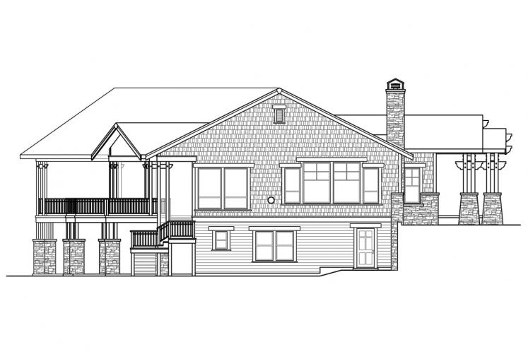 European House Plan - Northbrook 53221 - Left Exterior