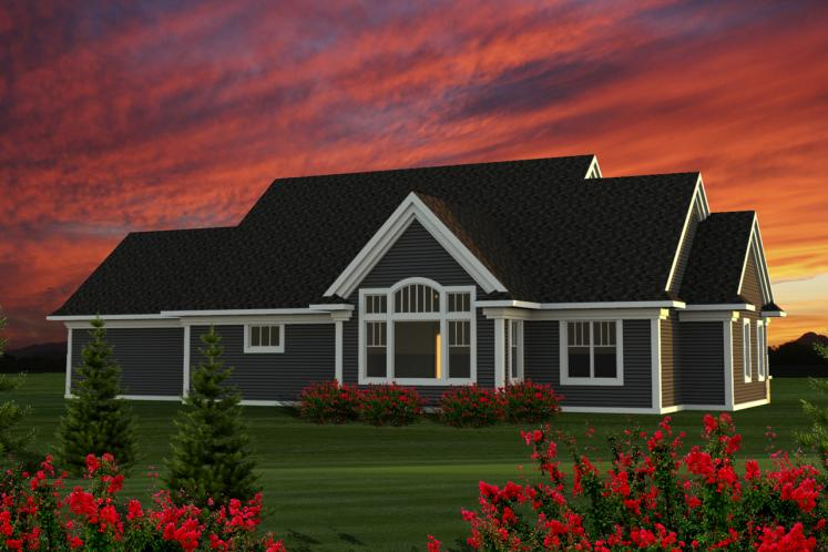 Classic House Plan -  53301 - Rear Exterior