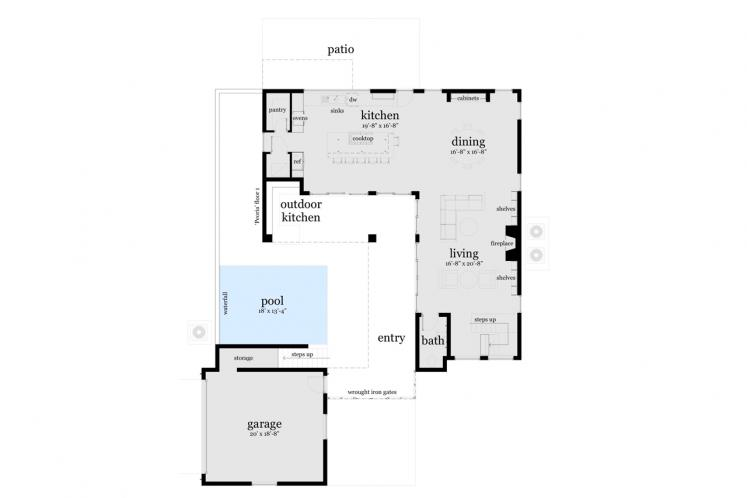 Contemporary House Plan - Peoria 53415 - 1st Floor Plan