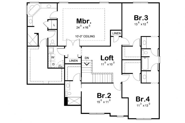 Country House Plan - Ambroz 53458 - 2nd Floor Plan