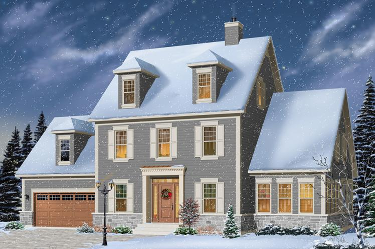 Traditional House Plan - Chrisholm 53497 - Front Exterior