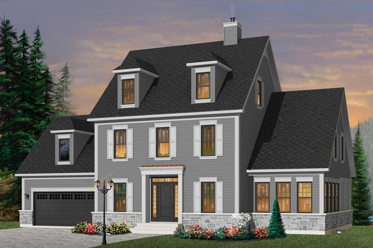 Colonial House Plan - Chrisholm 53497 - Front Exterior