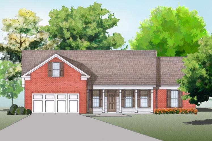Traditional House Plan -  53566 - Front Exterior