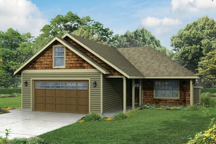 Ranch House Plan - Belmont 53576 - Front Exterior