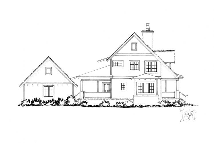 Country House Plan - Summerfield 53614 - Left Exterior