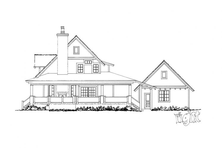 Farmhouse House Plan - Summerfield 53614 - Right Exterior