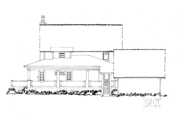 Traditional House Plan - Summerfield 53614 - Rear Exterior