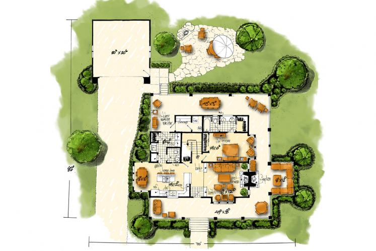 Traditional House Plan - Summerfield 53614 - 1st Floor Plan