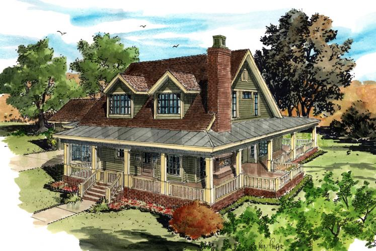 Country House Plan - Summerfield 53614 - Front Exterior