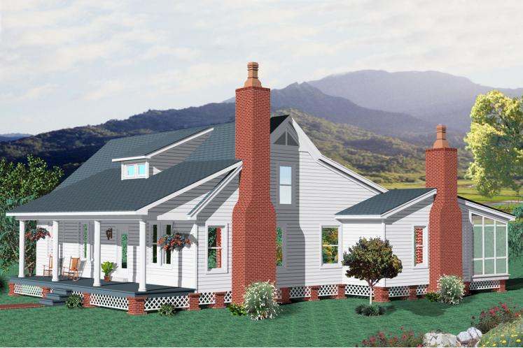 Country House Plan -  53689 - Front Exterior