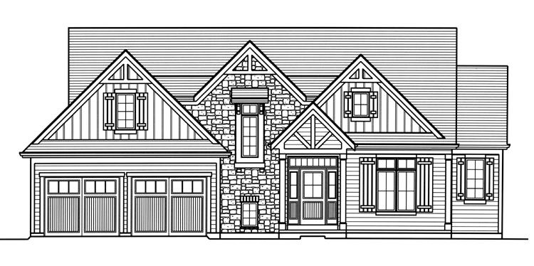 Traditional House Plan - The Elderberry 53746 - Front Exterior
