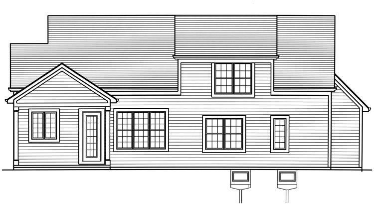 Country House Plan - The Elderberry 53746 - Rear Exterior