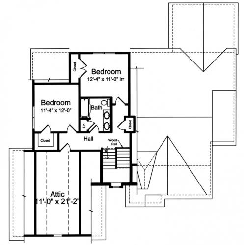 Craftsman House Plan - The Elderberry 53746 - 2nd Floor Plan