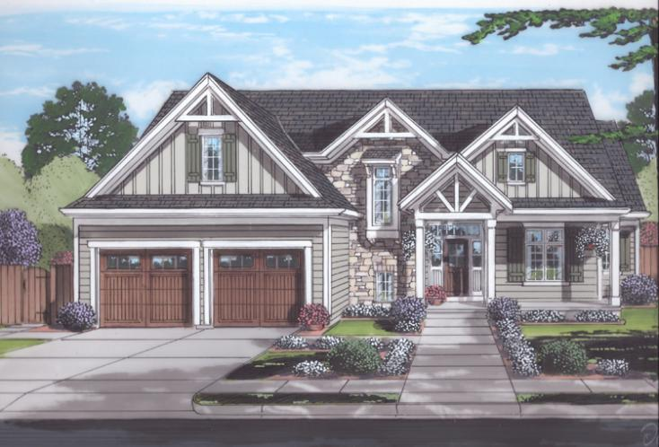 Craftsman House Plan - The Elderberry 53746 - Front Exterior