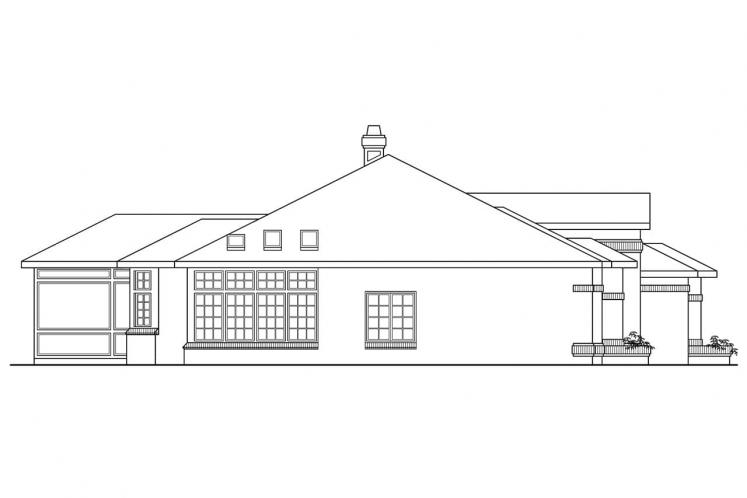 Tudor House Plan - Sedalia 53879 - Left Exterior