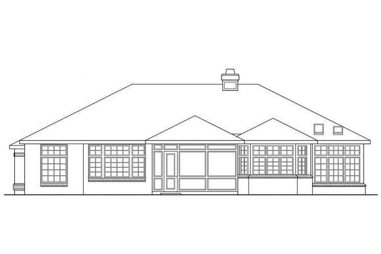 Traditional House Plan - Sedalia 53879 - Rear Exterior