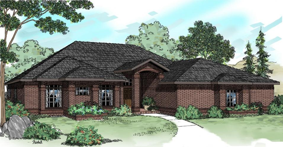 Contemporary House Plan - Sedalia 53879 - Front Exterior